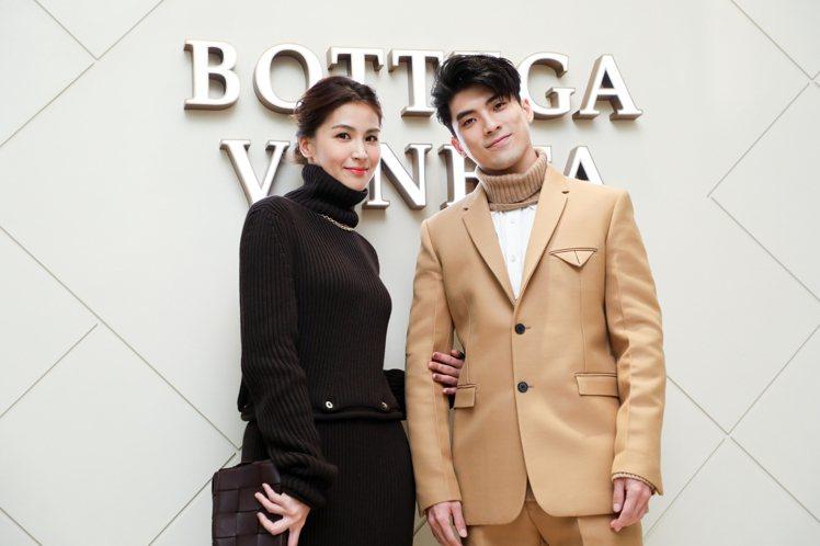 《我們與惡的距離》姊弟檔曾沛慈、林哲熹出席Bottega Veneta新光三越台...