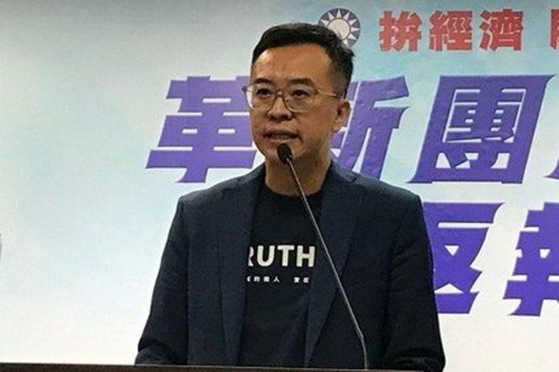 國民黨文傳會副主委黃子哲。 聯合報系/記者余靖瑩攝影