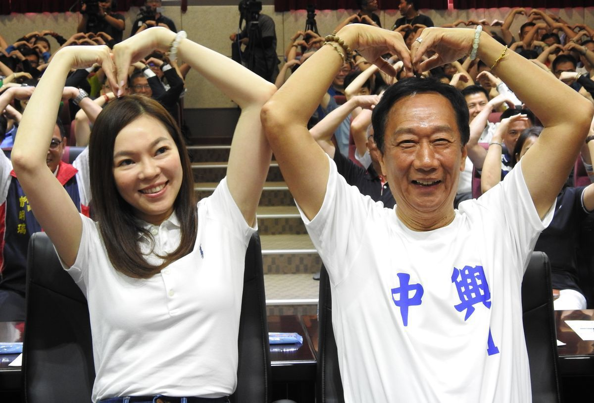 郭台銘與妻子曾馨瑩。圖/聯合報系資料照片