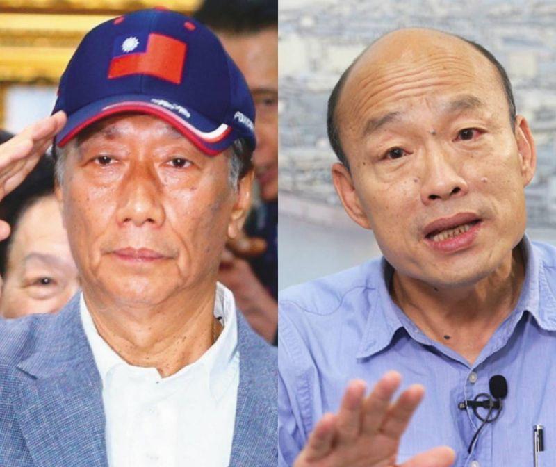 郭台銘與韓國瑜。圖/聯合報系資料照片