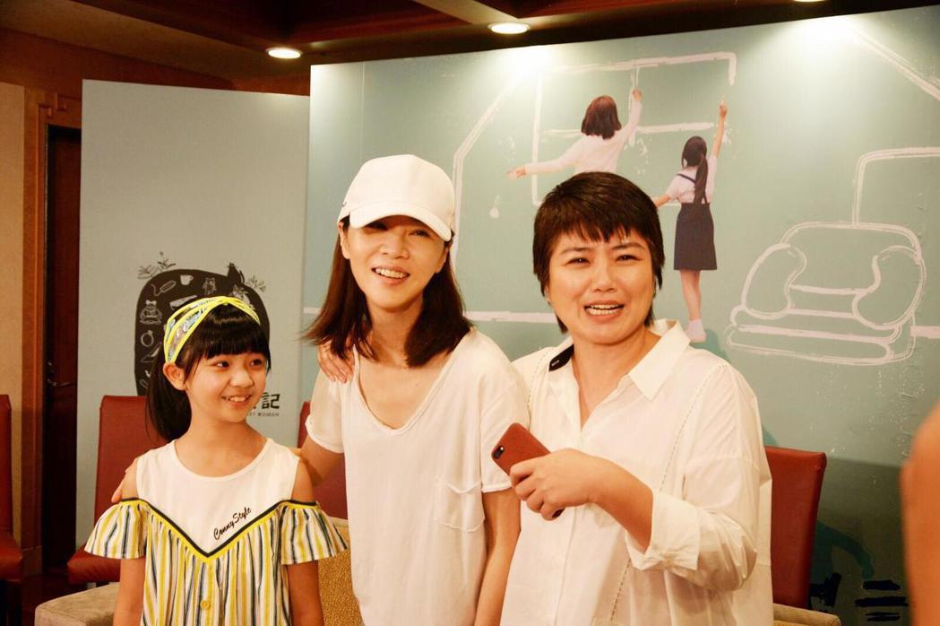 謝盈萱在「俗女養成記」直播活動露面。 圖/華視提供