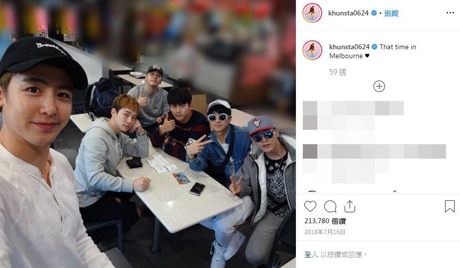 2PM近年因為成員紛紛當兵,因而鮮少合體。圖/擷自IG