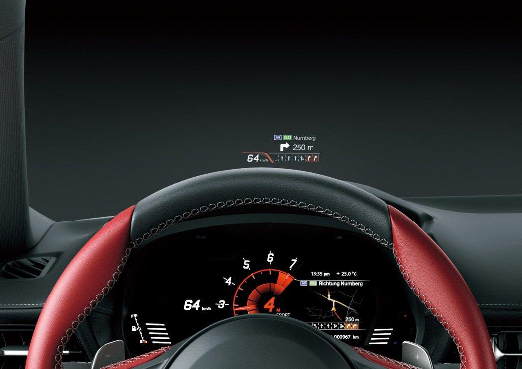 8.8吋數位儀錶板全彩HUD抬頭顯示器。 圖/和泰汽車提供