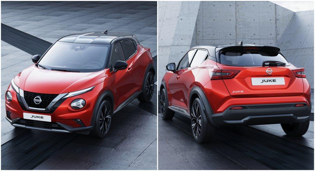 第二代Nissan Juke車頭採用分離試燈組設計,搭配特殊的車身線條,勾勒出與...