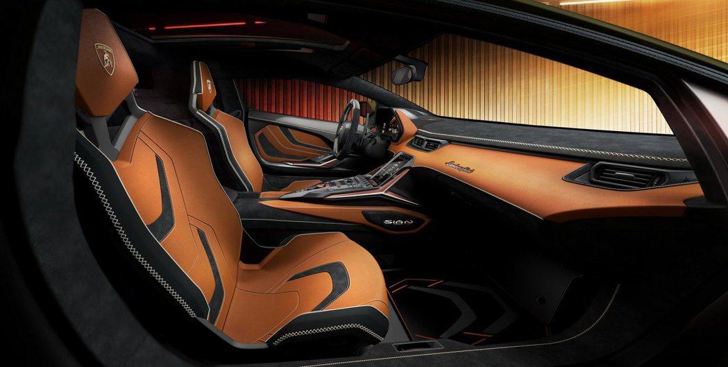 Lamborghini Sián內裝可依照車主喜好進行客製化。 摘自Lambor...