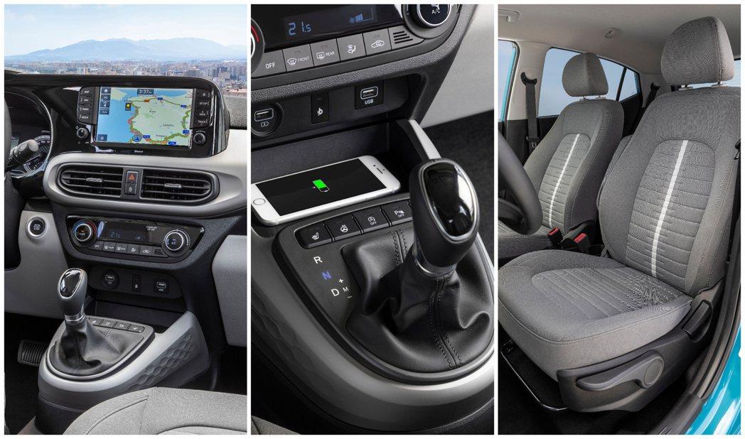 第三代Hyundai i10內裝特點。 摘自Hyundai