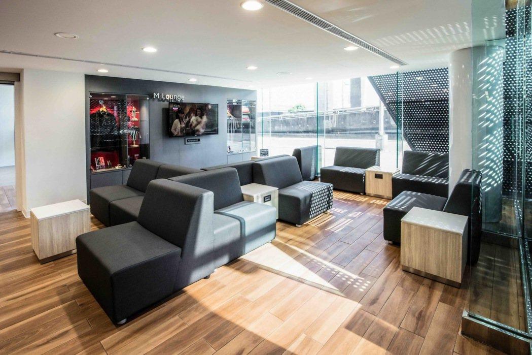 三菱個人化客休室,回廠檢修更舒適。 圖/中華三菱提供