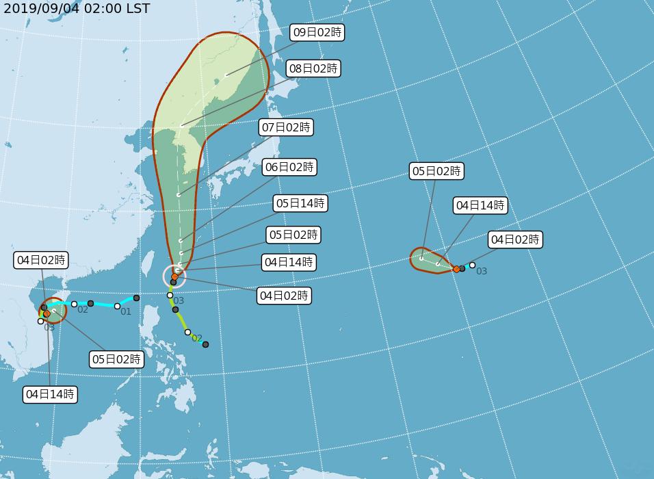 玲玲颱風、熱低壓路徑圖。圖/中央氣象局提供