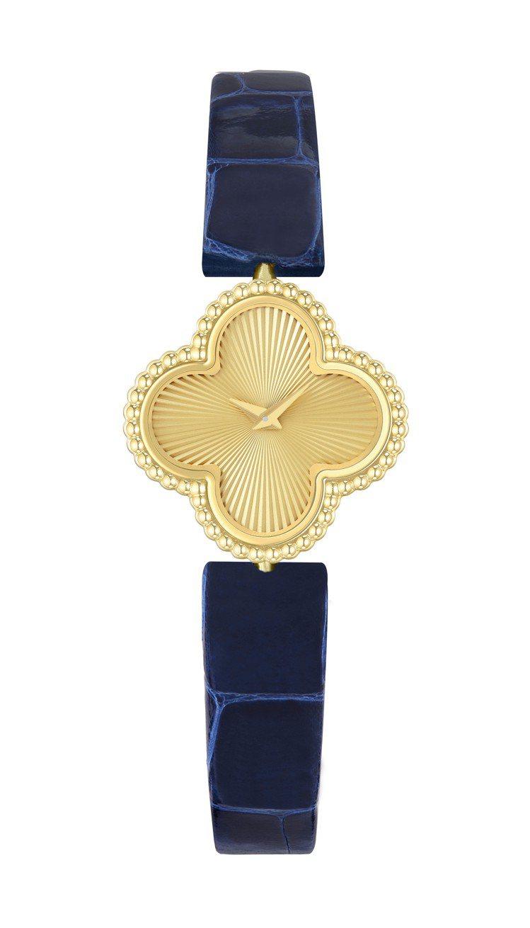 梵克雅寶Sweet Alhambra腕表,22.7毫米 x 22.7毫米璣鏤雕花...