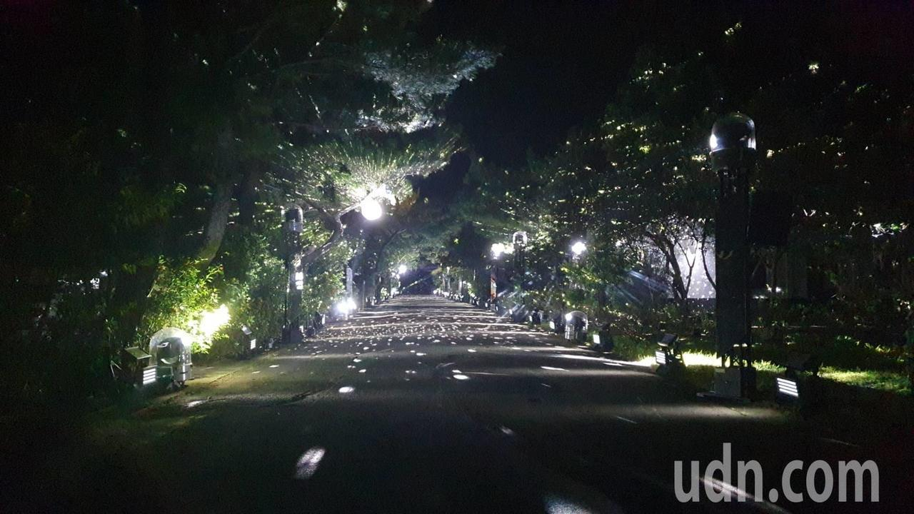 「大湳森之光」光雕展以音樂、光影、AR互動生態影像,製造出如夢似幻的環境劇場,配...