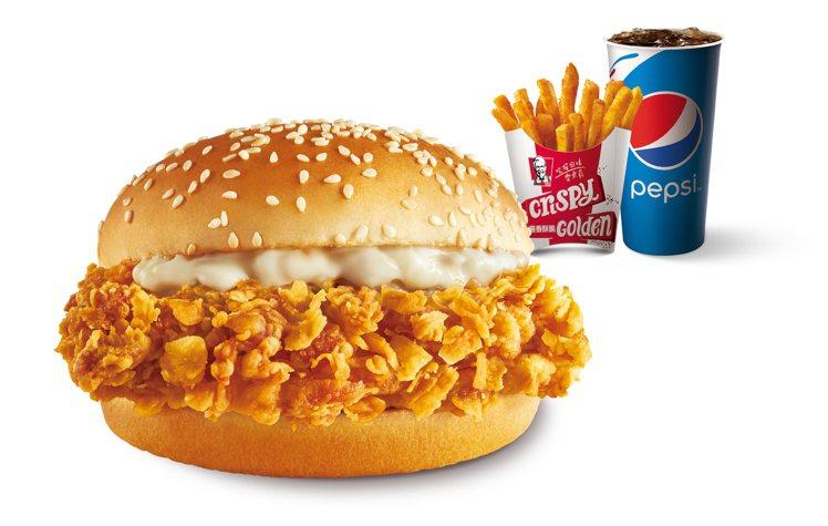 肯德基「上校吮指脆雞堡」超值雞省餐,售價99元。圖/肯德基提供