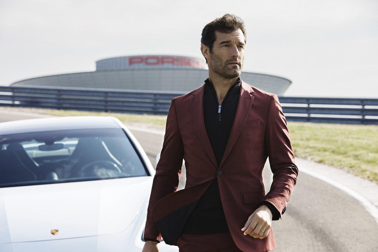 前冠軍車手Marker Webber演繹,BOSS與保時捷聯名新裝。圖/BOSS...