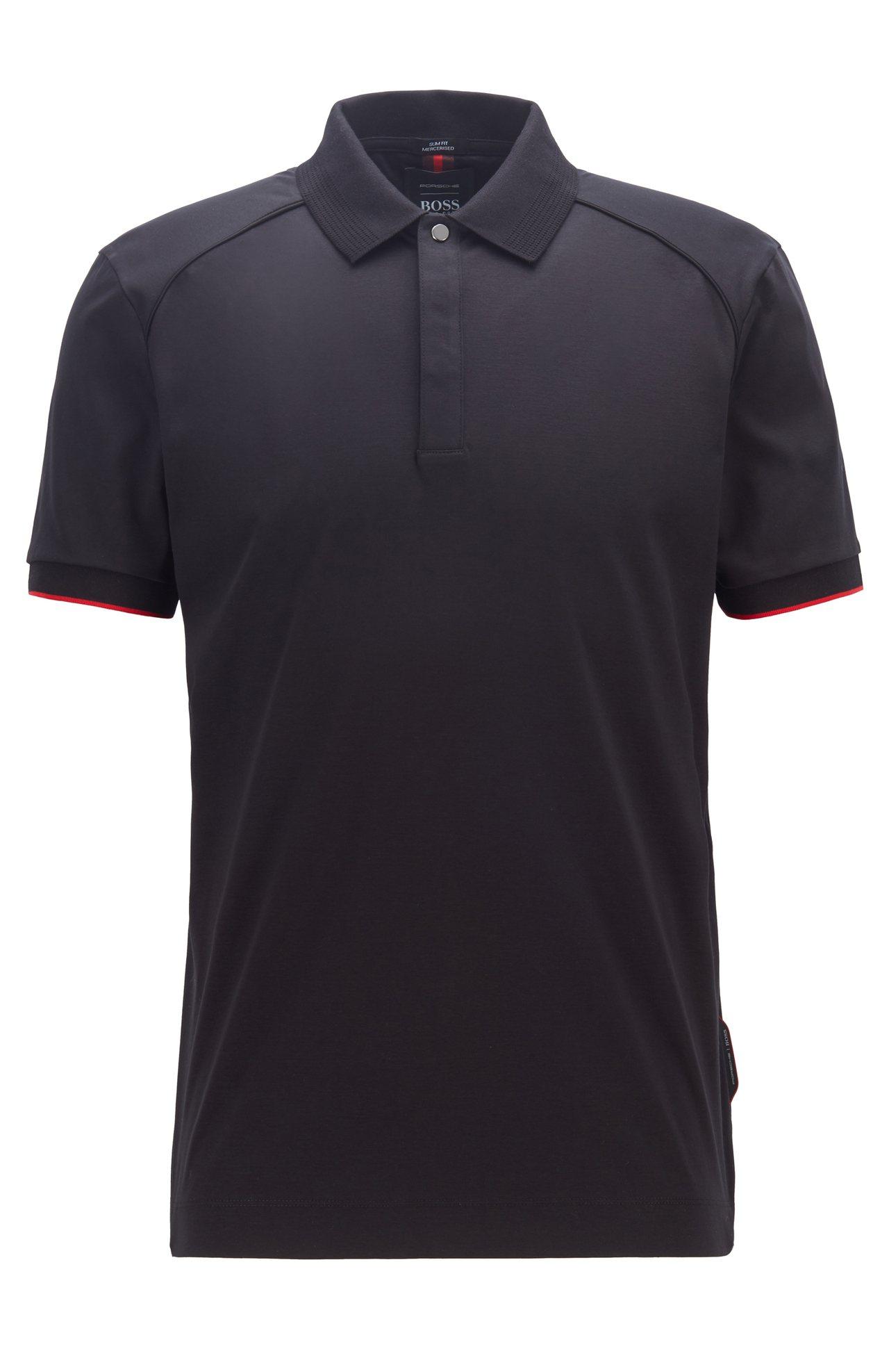 BOSS與保時捷聯名系列深藍色POLO衫,6,900元。圖/BOSS提供