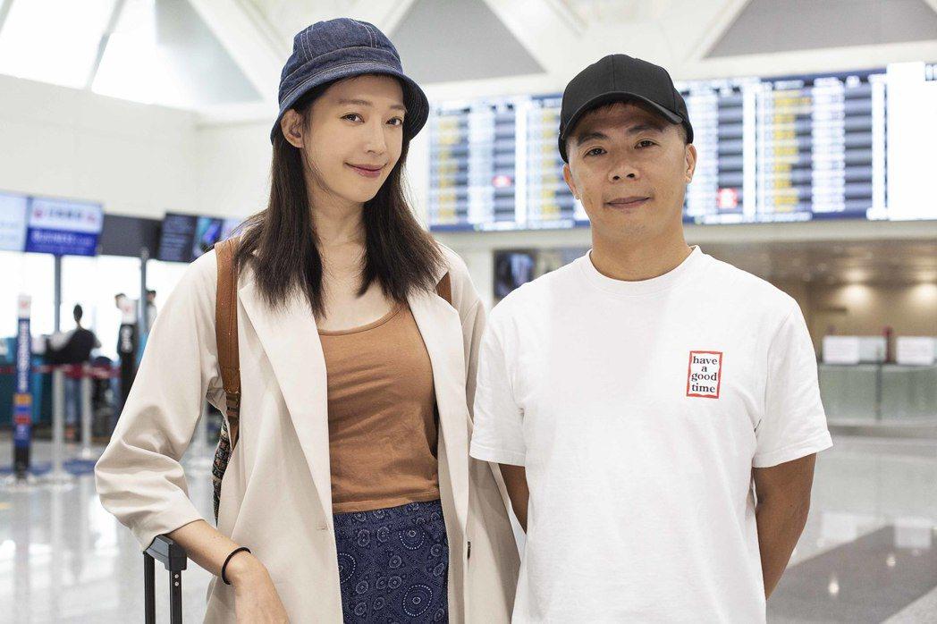 王心恬(左)和林義傑跑馬拉松  圖/凱渥提供