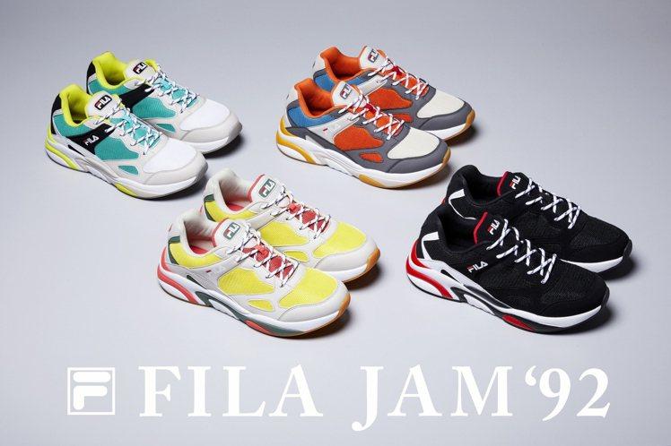 FILA JAM'92共有四個復古摩登配色,售價2,480元。圖/FILA提供