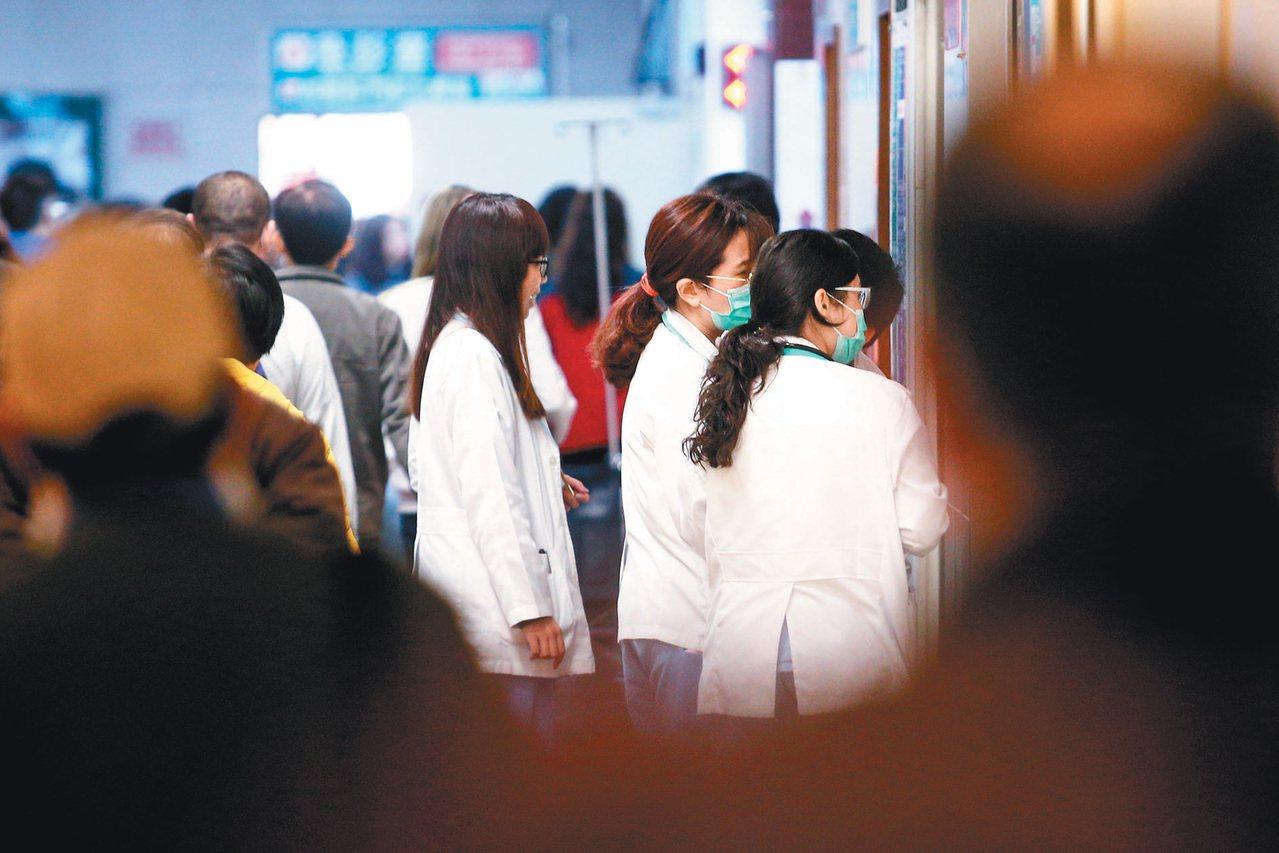 住院醫師示意圖。 聯合報系資料照/記者蘇健忠攝影