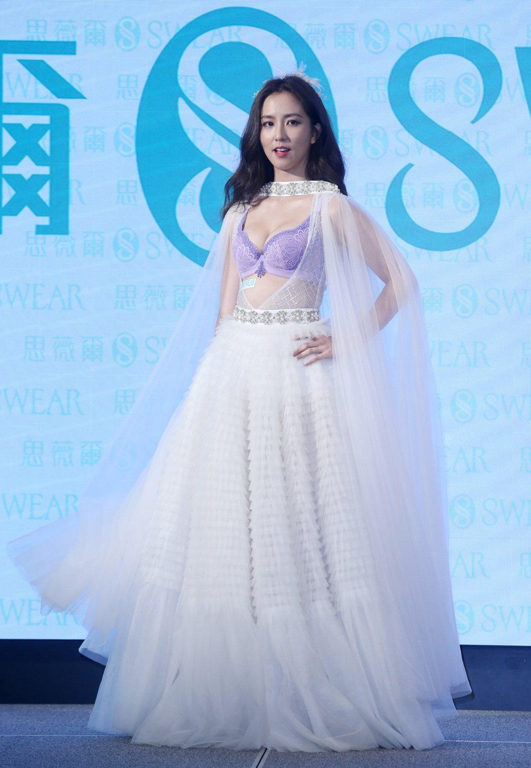 周曉涵出席為思薇爾內衣2019AW新品代言。記者曾吉松/攝影