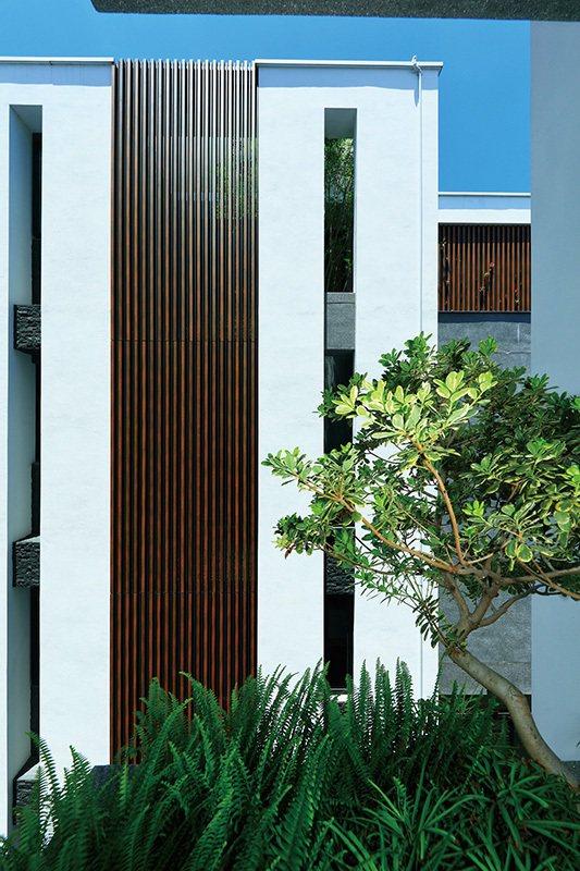 外觀採用德國頂級STO塗料。 圖/美僑建設 提供