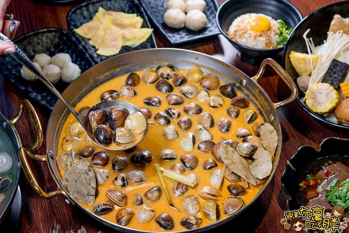 「瑪莎蔓蛤蠣鍋」主打異國風味。圖/跟著左豪吃不胖授權