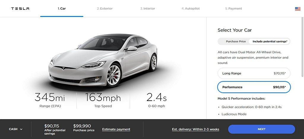 性能、續航表現都比保時捷Taycan Turbo S好點的Model S Per...