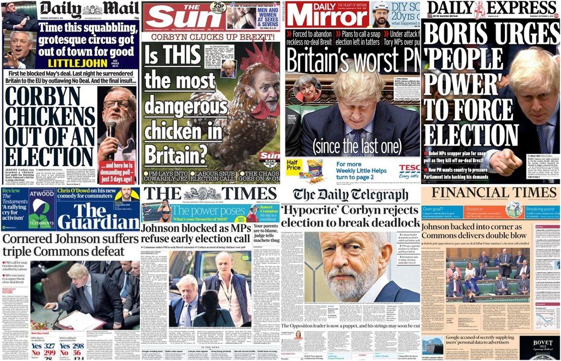 英國的脫歐之戰,4日再釀國會政治大亂鬥。以工黨為首的在野聯盟,憑藉著大批保守黨議...