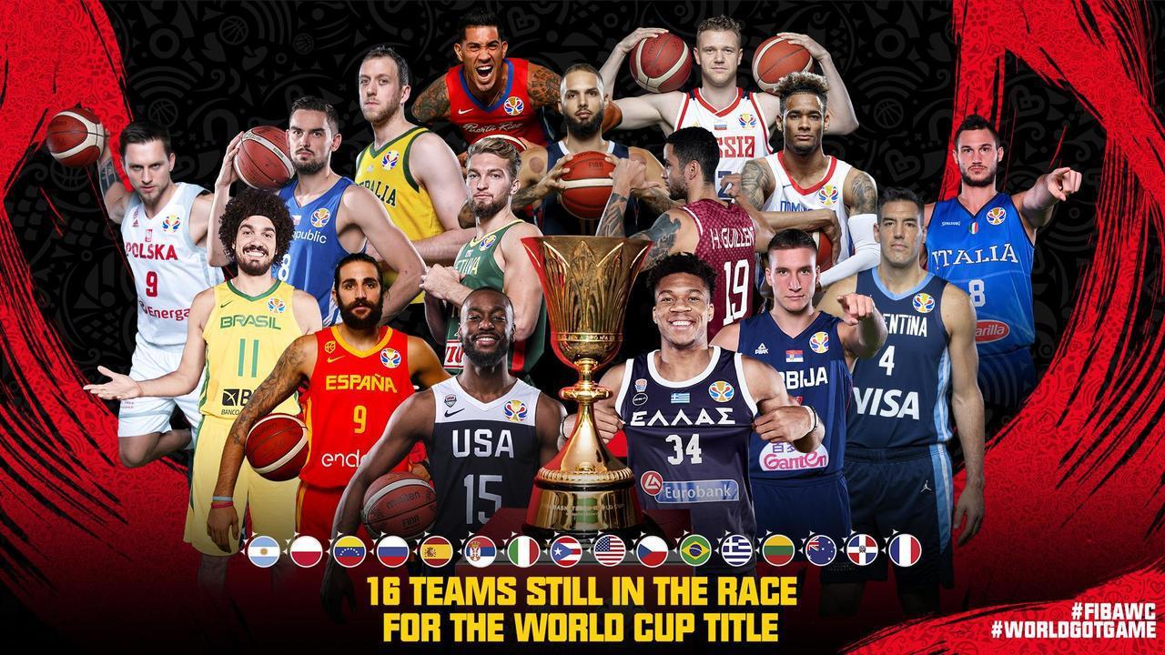 世界盃16強出爐。 截圖自@Basketball World Cup官方推特