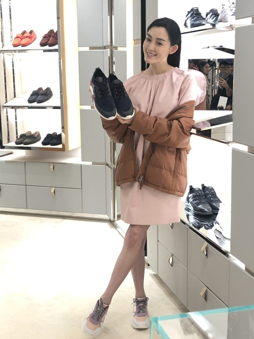 范瑋琪受傷後出席時尚活動。記者楊詩涵/攝影
