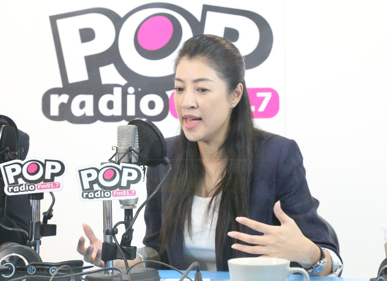 許淑華今接受廣播節目《POP撞新聞》專訪。圖/POP Radio提供