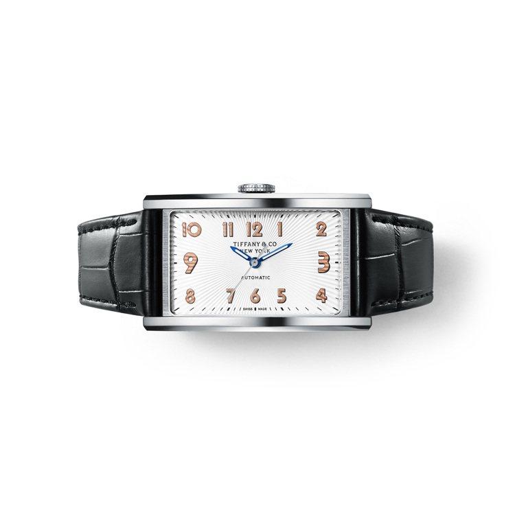 Tiffany East West白色表盤自動上鍊機芯腕表,約12萬9,000元...