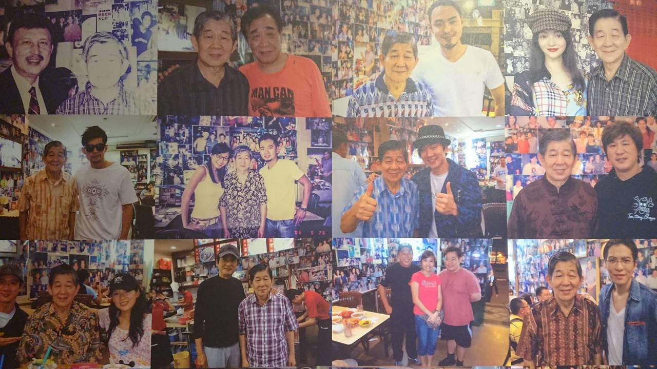 在店內的名人合照區,可看見周杰倫、林俊傑等知名藝人的身影。記者陳睿中/攝影