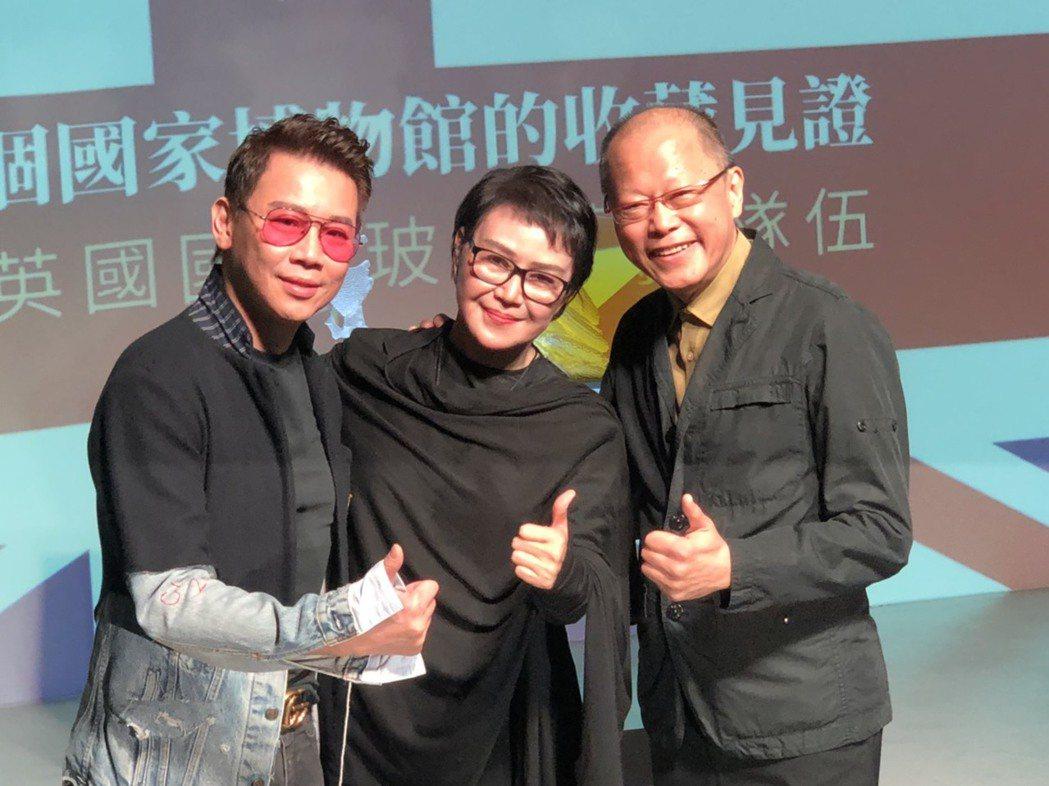 陶喆(左起)、楊惠姍及張毅同台合照。記者許晉榮/攝影