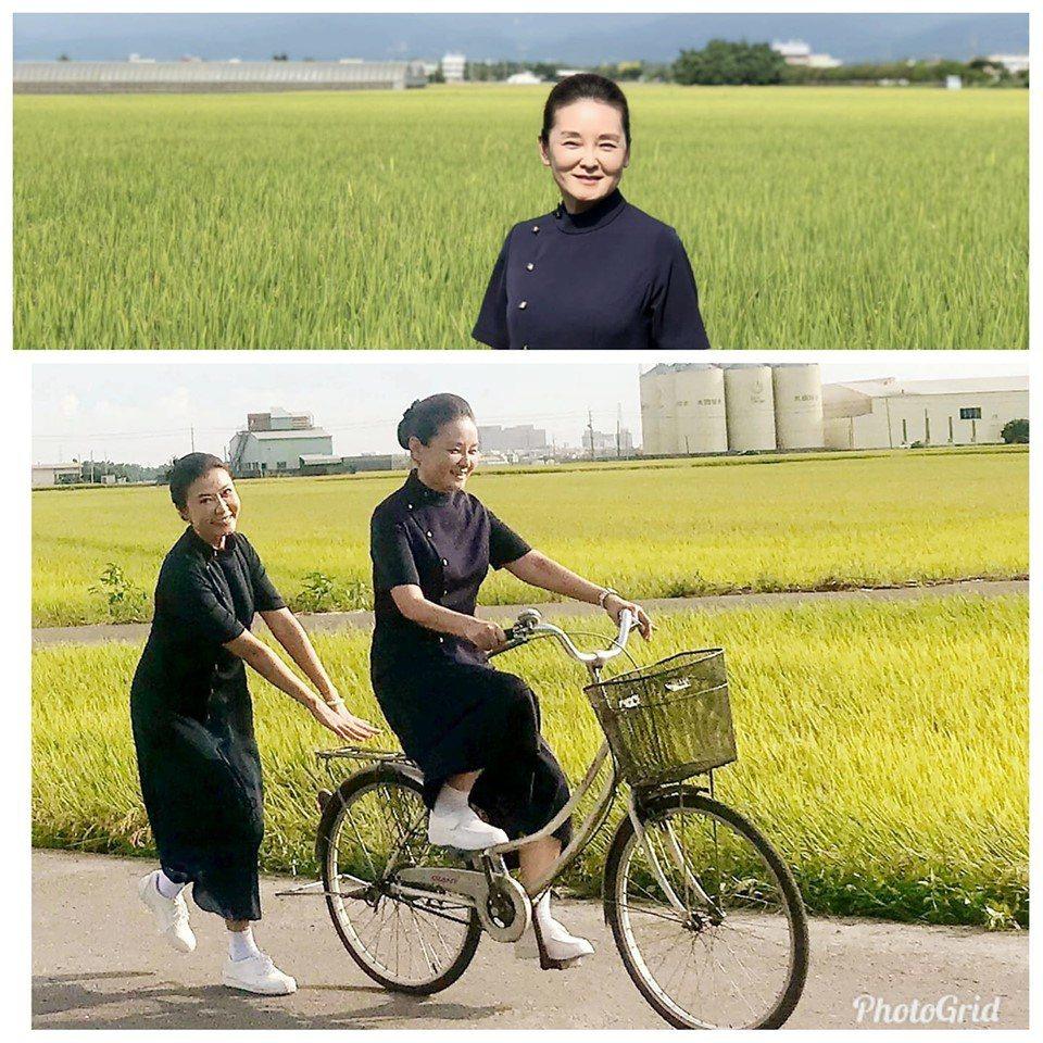 王淑娟拍攝大愛戲「大林學校」。圖/摘自臉書