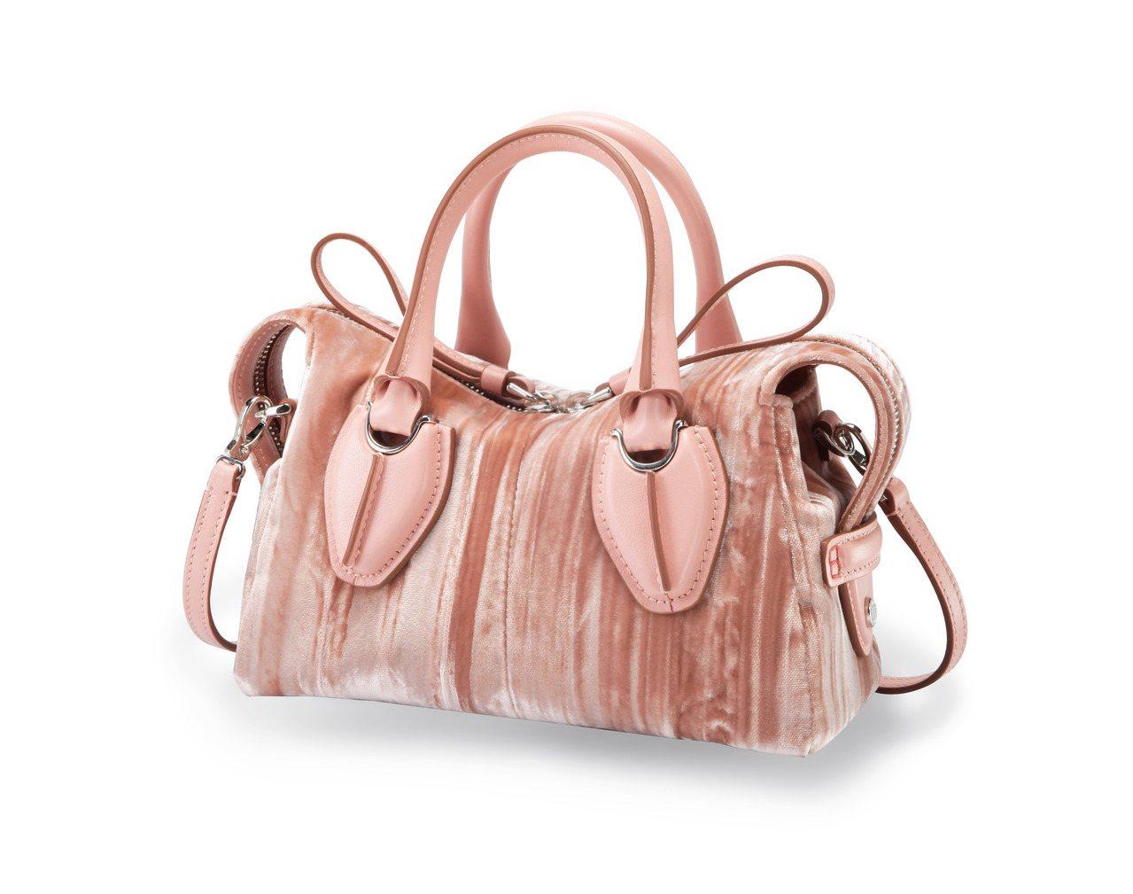 Micro D-Styling裸粉色絨面手提包,售價46,600元。圖/TOD'...