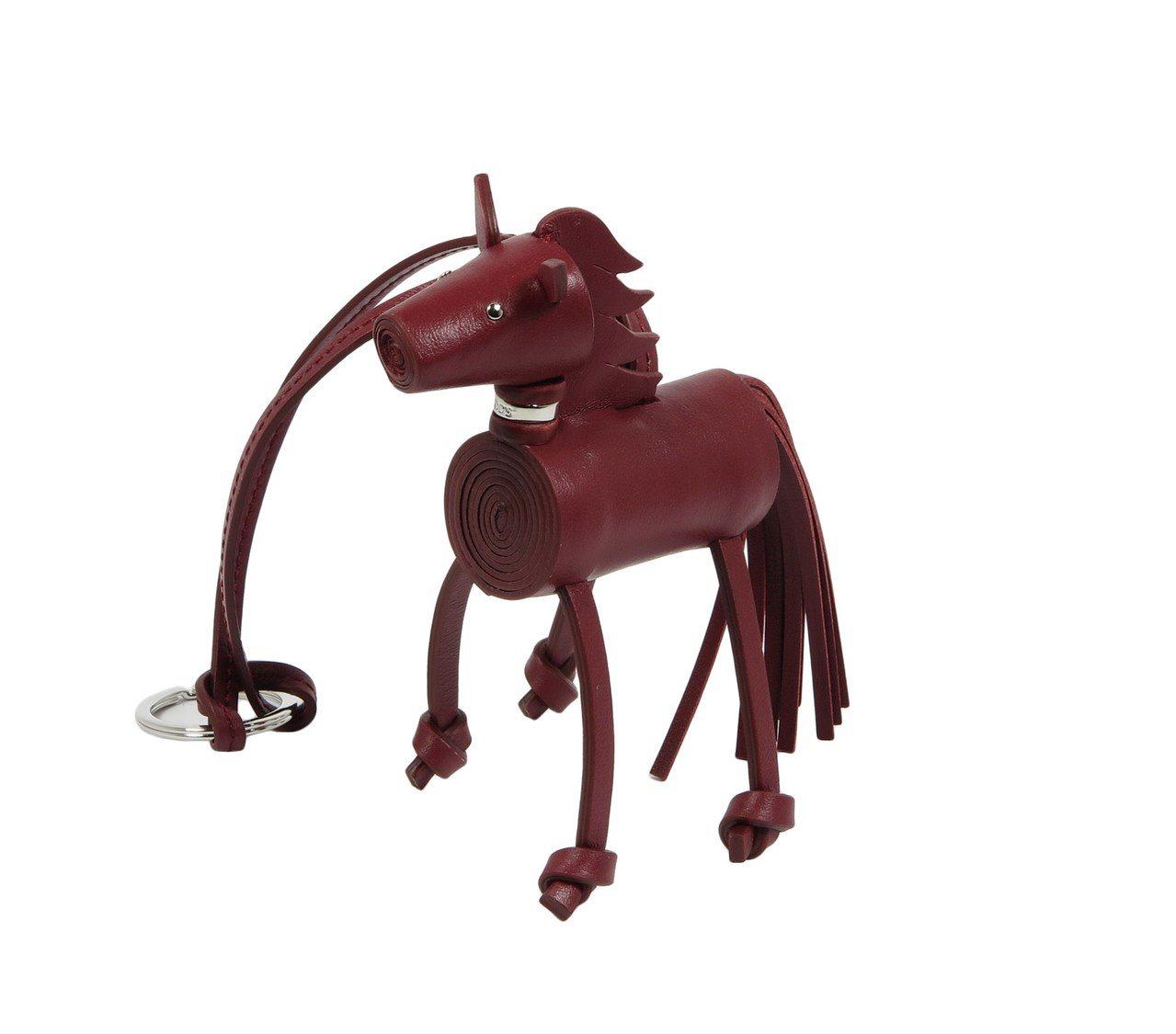 真皮小馬吊飾,售價17,400元。圖/TOD'S提供