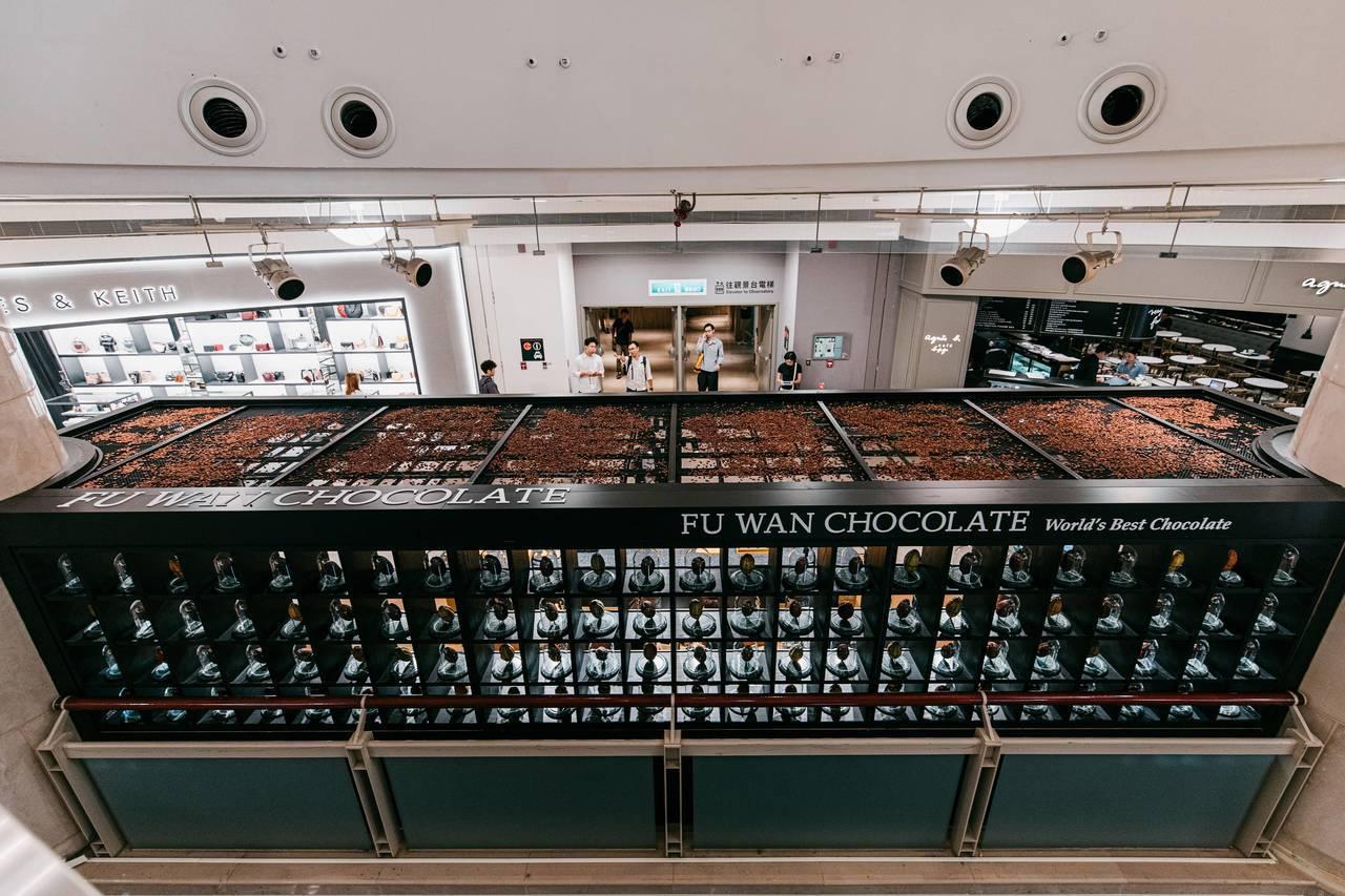 101直營店的可可豆屋頂。圖/福灣巧克力提供