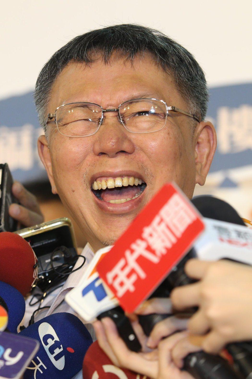 台北市長柯文哲形容「陳菊是比較肥的韓國瑜」,再度引發爭議。圖/聯合報系資料照片