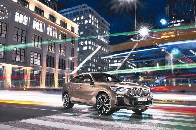 全新世代BMW X6豪華運動跑旅,預售價365萬元起。 圖/汎德提供