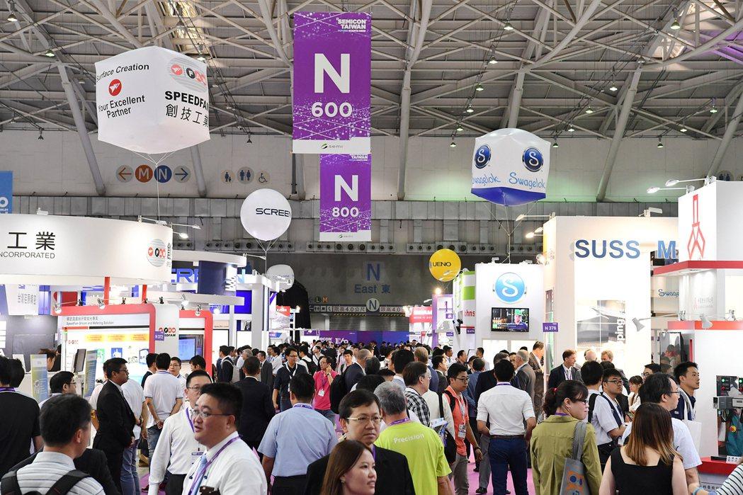 SEMICON Taiwan國際半導體展去(2018)年展覽盛況。 圖/SEMI...
