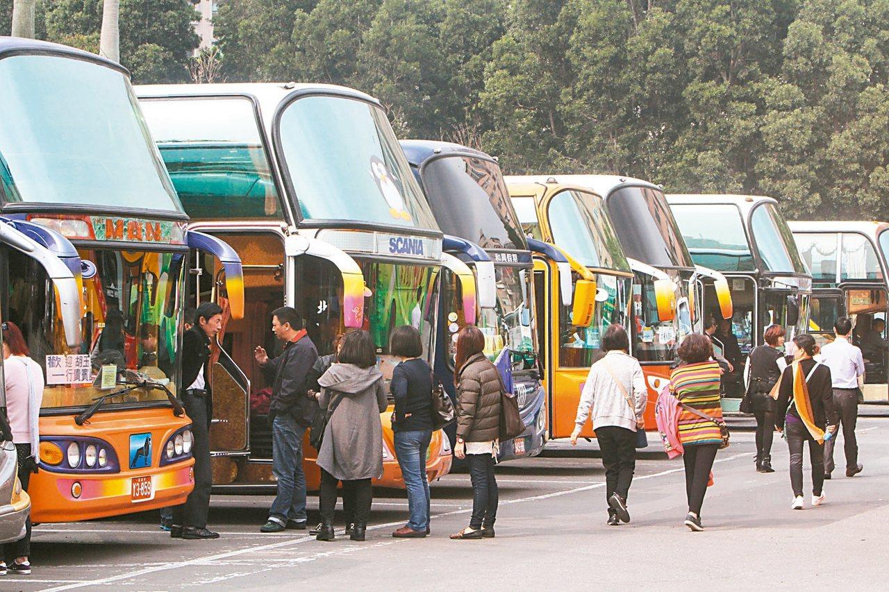 交通部研擬遊覽車免徵汽燃費一年,每輛遊覽車平均少繳3萬元,國庫為此將減少4.35...