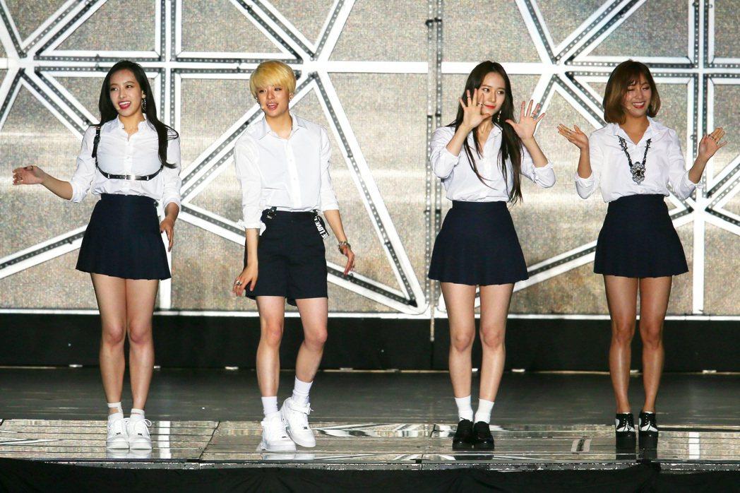 f(x)成員約滿後選擇離開SM娛樂。圖/報系資料照(記者王騰毅/攝影)