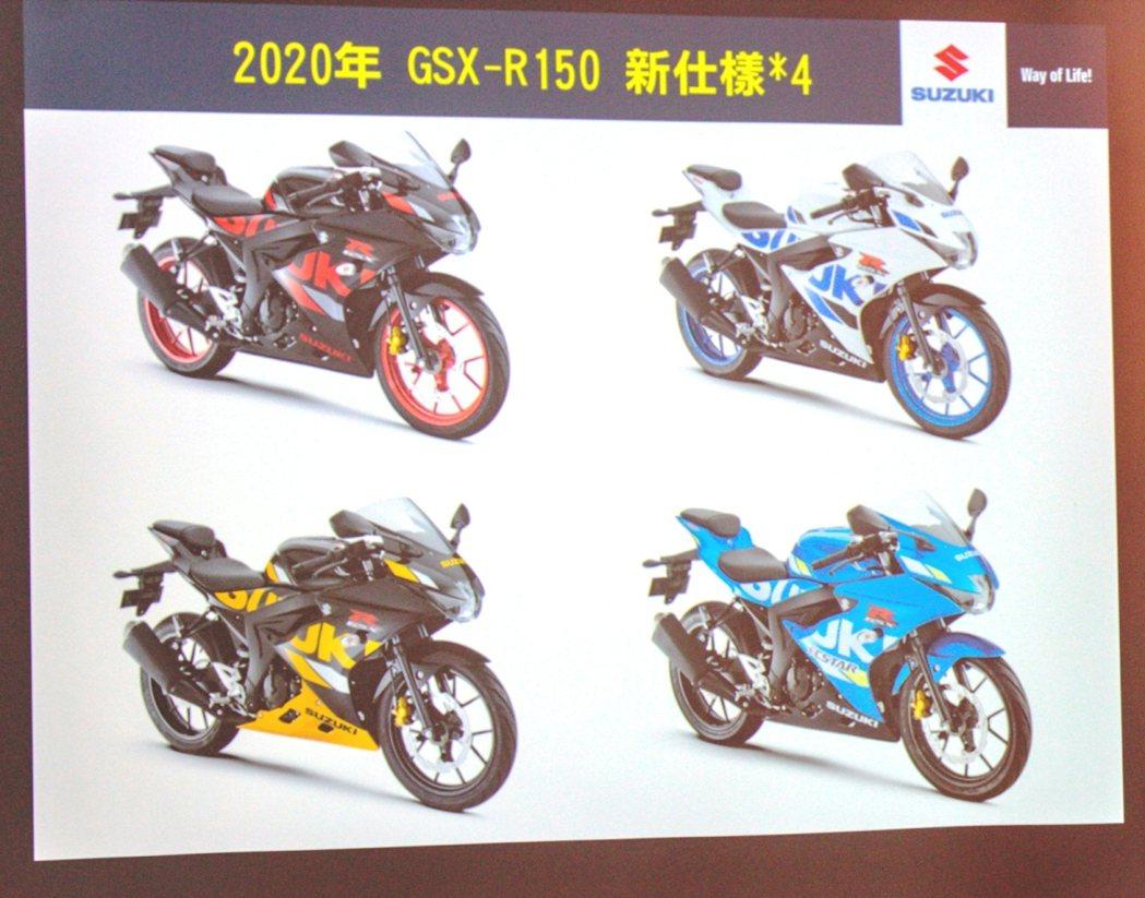 2020年R150全新四色發表。 圖/台鈴Suzuki提供