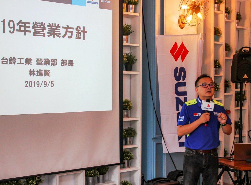 台鈴SUZUKI 部長林進賢先生說到2019年台鈴SUZUKI展開了年輕化的品牌...