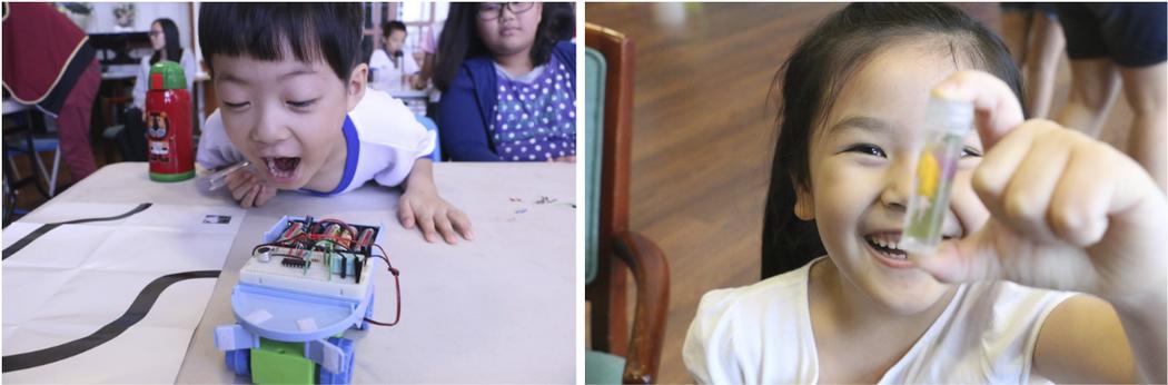 夏日小學堂中的程式設計與自然觀察課程。圖/徐培峯 提供
