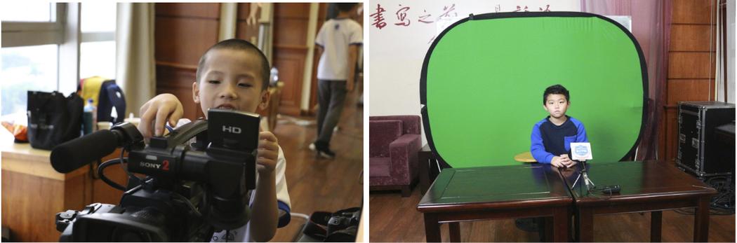 夏日小學堂中的影像拍攝及主播課程。圖/徐培峯 提供