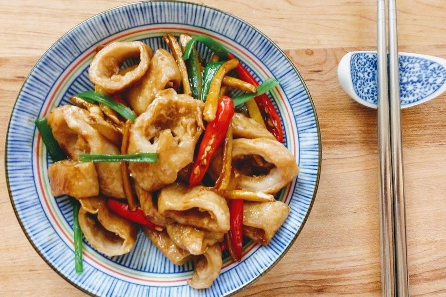 食譜/薑絲大腸,台灣順口下酒好菜