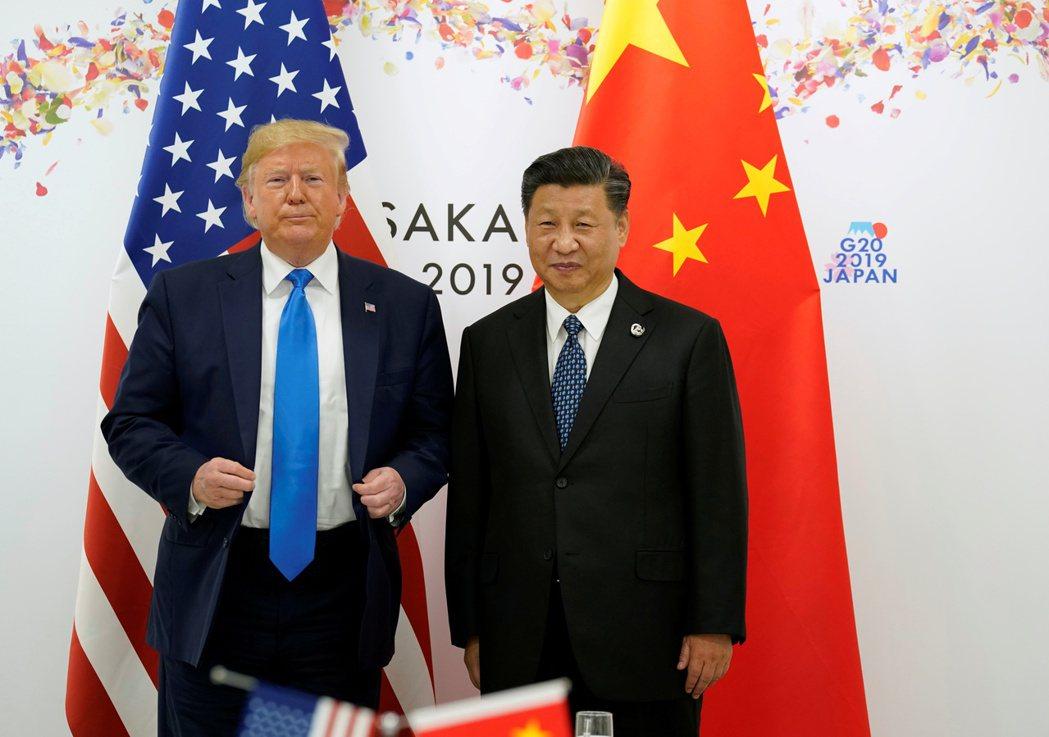 美國總統川普與中國國家主席習近平今年在大阪G20峰會見面。  路透