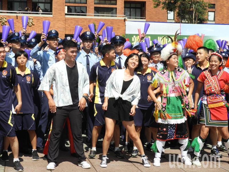 總統蔡英文今日參加桃園陸軍專科學校舉辦的三軍士官新生開學典禮。記者高宇震/攝影