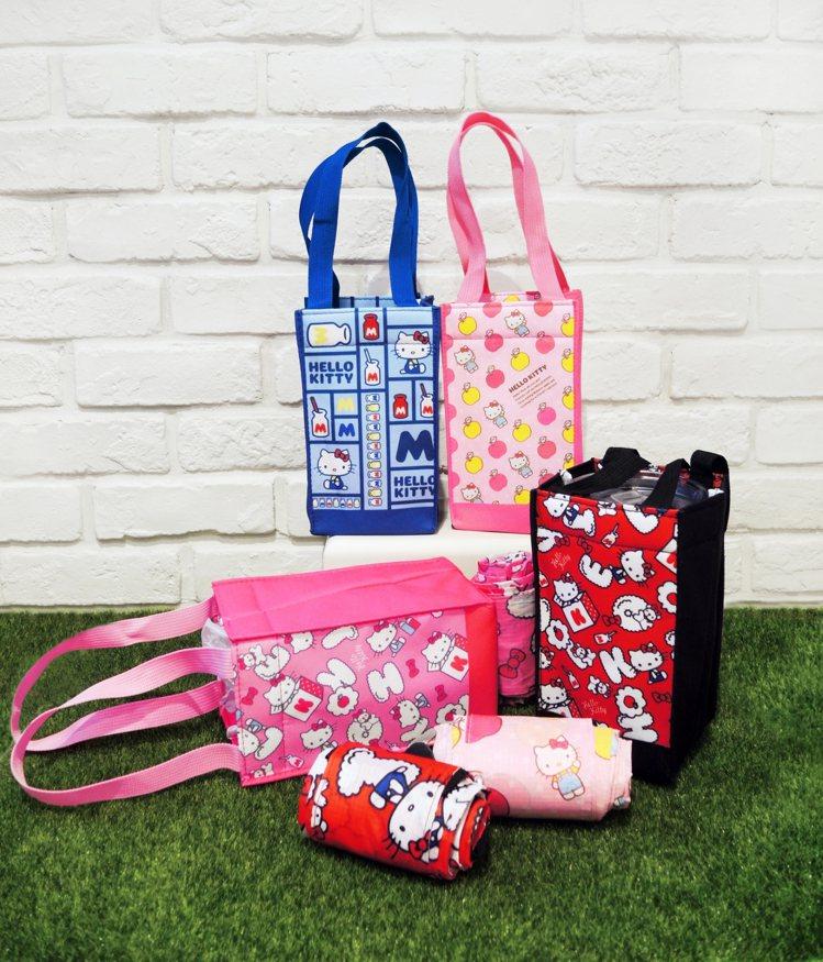 Hello Kitty攜帶式飲料提袋,9月11日起在全台限定3,000間7-EL...