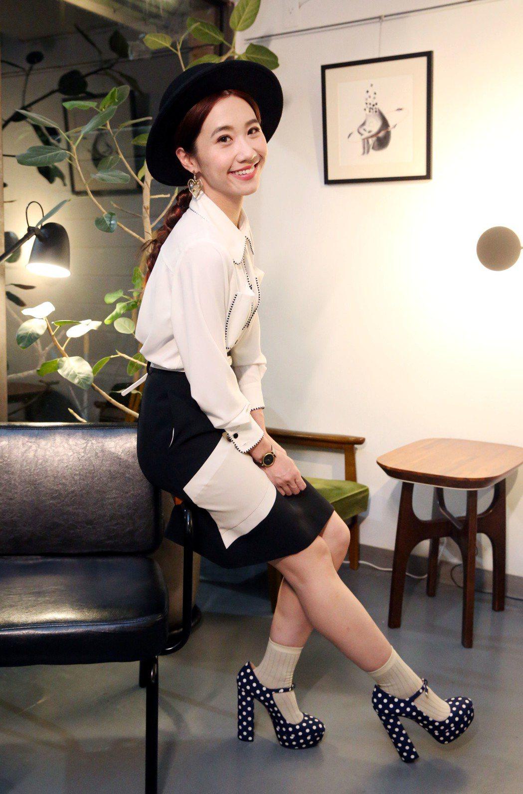 Lulu的一身行頭都自己打理,而且用的都是台灣本土設計師的作品。記者林俊良/攝影