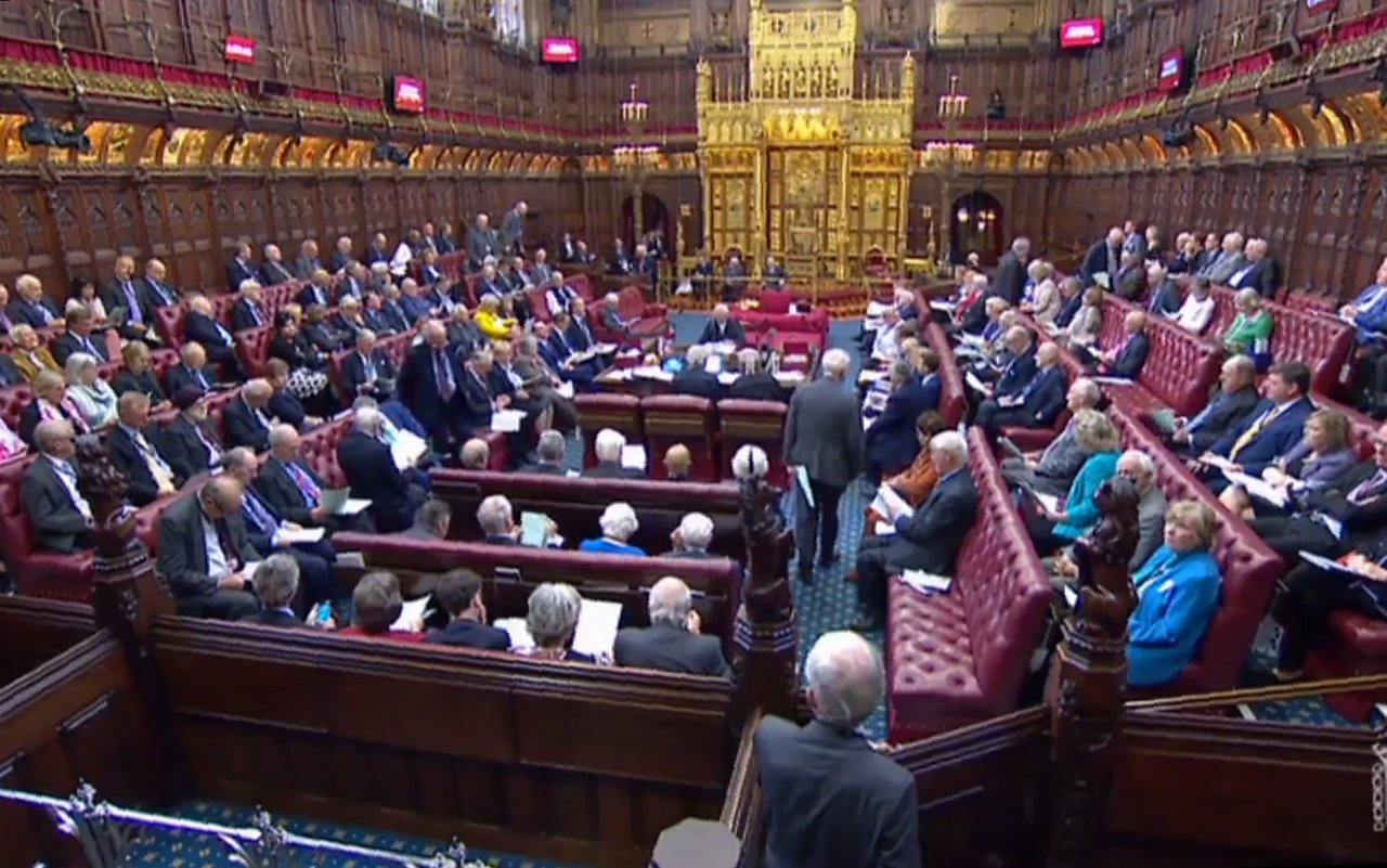 英國上議院通過法案攔截硬脫歐。(法新社)